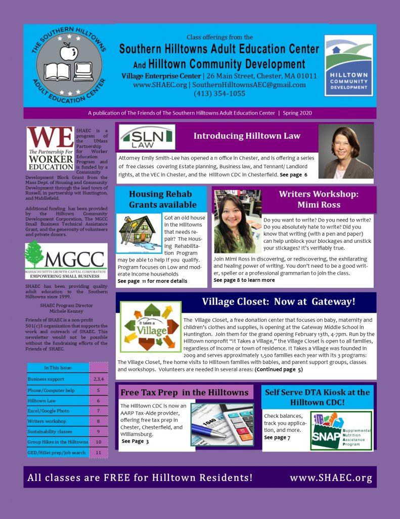SHAEC Spring 2020 Newsletter